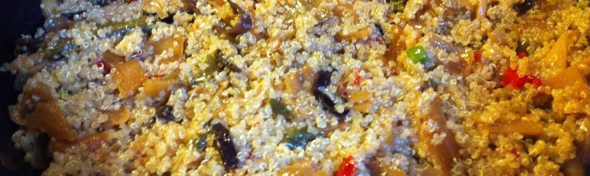 Quinoa with Chinese Vegetables