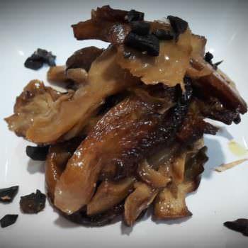 Orange balsamic oyster mushrooms