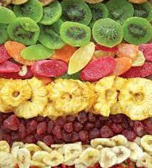 Dried fruits without sugar and nuts