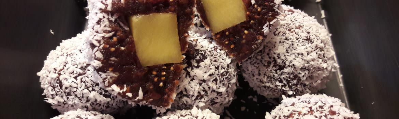 Mango stuffed cabob truffles
