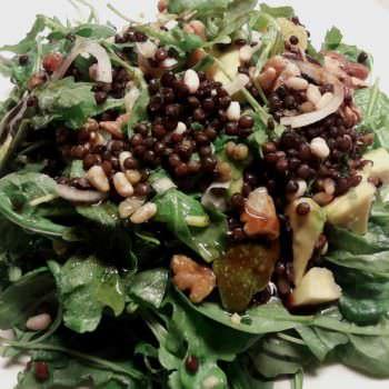 Black lentils Beluga salad