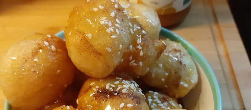 Traditional Greek honey donuts (Loukoumades)