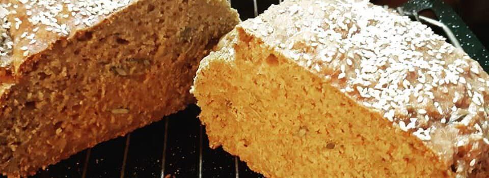 Πολύσπορο ψωμί δίκοκκο  αλεύρι (Ζέας) χωρίς μαγιά