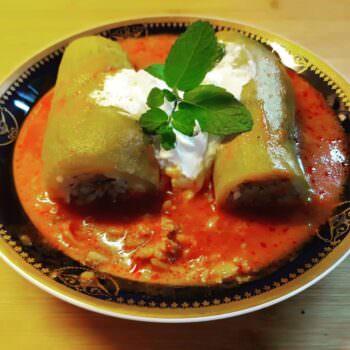 """Lebanese style stuffed zucchini  """"KOUSA"""""""