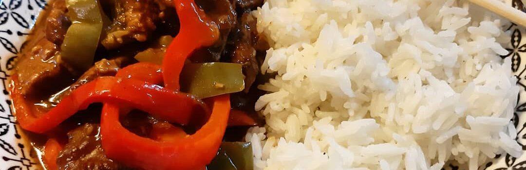 Beef in black bean sauce