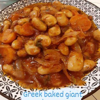 Greek baked giant beans GIGANTES